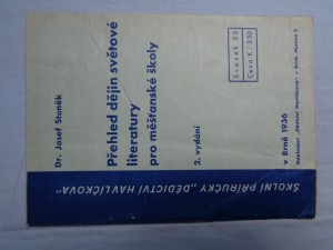 náhled knihy - Přehled dějin světové literatury pro školy měšťanské