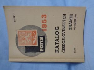 náhled knihy - Katalog československých známek od roku 1945 + Dodatek za rok 1954
