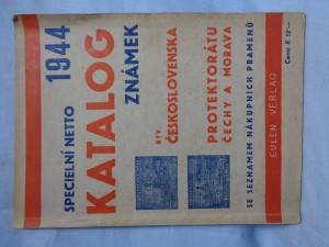 náhled knihy - Specielní katalog poštovních známek býv. Československa, Protektorátu Čechy a Morava 1944