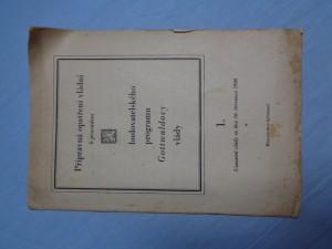 náhled knihy - Přípravná opatření vládní k provádění budovatelského programu Gottwaldovy vlády 1.: usnesení ze dne 16. července 1946