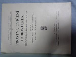 náhled knihy - Prostná cvičení dorostenek pro X. všesokolský slet v Praze r. 1938