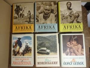 náhled knihy - Přes Kordilery, Za lovci lebek, Tam za řekou je Agentina, Afrika snů a skutečnosti I, II, III / 6 knih v hezkém stavu /