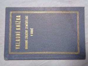 náhled knihy - Vkladní knížka Národní záložny zemědělské v Brně