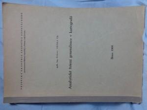 náhled knihy - Analytické řešení generalisace v kartografii