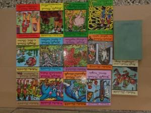 náhled knihy - Kopyto, Mňouk a Vesmírná brána, Tajemství džungle, Akta X, Mimozemšťané, Lesní netvor, Divá Elvíra, Ohnivý myslivec, Indiáni, Únos policajtovy ženy, Černá magie, Ryšavý upír, Maharadžova pomsta a Příliš tlustý dobrodruh + Neuvěřitelné příhody žáků Kopyta a Mňouka
