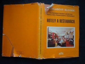 náhled knihy - Hotely a reštaurácie : slovensko-rusko-nemecko-anglicko-francúzsko-maďarský slovník