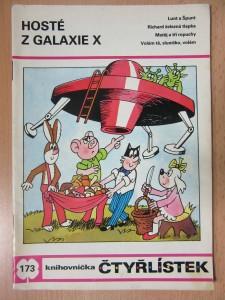 náhled knihy - Hosté z galaxie x : knihovnička čtyřlístek č. 173