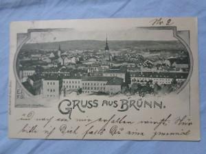 náhled knihy - Gruss aus Brünn. Nachdruck Verboten.