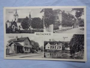 náhled knihy - Řečkovice - Kostel., Nádraží., Zámek., Rybník.