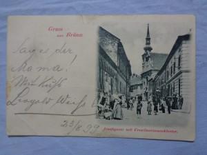 náhled knihy - Gruss aus Brünn. Jolsefsgasse mit Ursulinerinnenkloster.