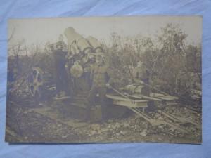 náhled knihy - fotopohlednice z první světové války - u děla - dělo