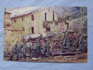 náhled knihy - Weltkrieg 1914 - 1916. Aufstellung eines 30.5cm Mörsers an der Südwestiront.
