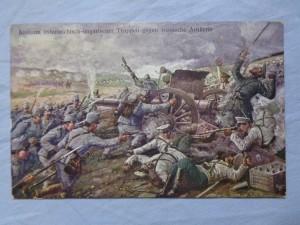 náhled knihy - Ansturm österreichisch-ungarischer Truppen gegen russische Artillerie
