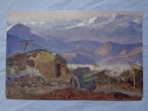 náhled knihy - Artilleriestellung im Suganatal.