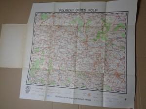 náhled knihy - Vilímkovy Turistické mapy politických okresů 4 Kolín