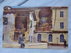 náhled knihy - Weltkrieg 1914 - 1916. Görz. Zerschossenes Schul- und Wohnhaus