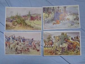 náhled knihy - Aus dem Goldenen Buche der Armee. Serie III. nr. 348, 354, 353, 349