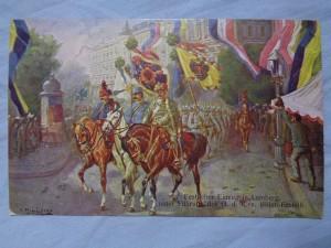 náhled knihy - Festlicher Einzug in Lemberg unter Führung des G. d. K. v. Böhm-Ermolli 167-1916