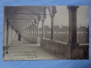náhled knihy - Monumentale Certosa di Pavia Vedutadel grande chiostro e celle.