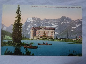 náhled knihy - K2670 Grand Hotel Misurina (1800 m) versp Antelao e Gruppo di Sorapis