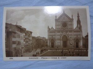 náhled knihy - FIRENZE - Piazza e Chiesa S. Croce No. 1256