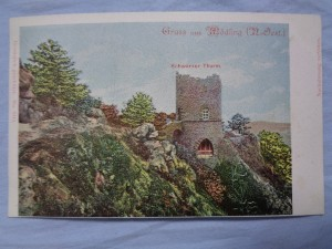 náhled knihy - Gruss aus Mödling - Schwarzer Thurm No. 5313