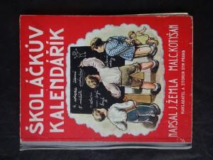 náhled knihy - Školáčkův kalendář : verše, pohádky, povídky, hádanky a žerty pro malé čtenáře, kteří se již naučili čísti