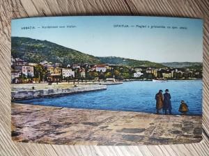 náhled knihy - Abbazia. - Nordstrand vom Hafen. Opatija. - Pogled s pristaništa na sjev. obalu. Nr. 802