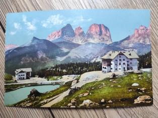 náhled knihy - Hotel Pordoi (2140 m) mit Langkofel (3178 m). Tirol.