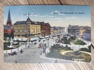 náhled knihy - WIEN. Mariahilfestraße mit Obelisk.