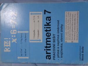 náhled knihy - Aritmetika 7 : pracovní sešit : přímá a nepřímá úměrnost, trojčlenka, slovní úlohy