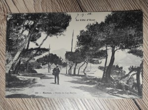 náhled knihy - 288 - Menton. - Route du Cap Martin.