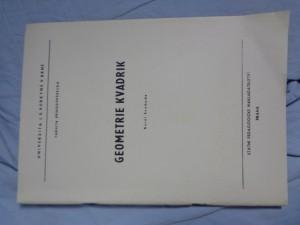 náhled knihy - Geometrie kvadrik : určeno pro posl. fak. přírodověd.
