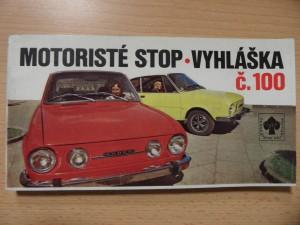 náhled knihy - Motoristé stop - vyhláška č. 100 Vyhláška č. 10