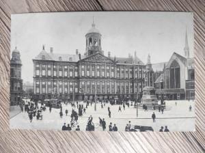 náhled knihy - Amsterdam, Dam Kon. Paleis en N. Kerk.