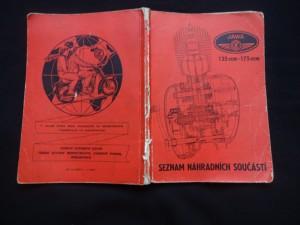 náhled knihy - Seznam náhradních součástí pro motocykl JAWA-ČZ 250 : Typ 35