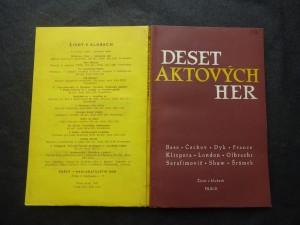 náhled knihy - Deset aktových her : Bass - Čechov - Dyk - France - Klicpera - London - Olbracht - Serafimovič - Shaw - Šrámek