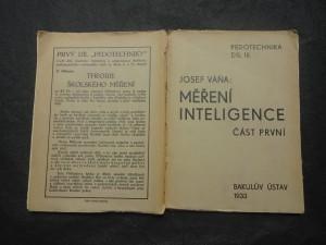 náhled knihy - Měření inteligence : praxe a teorie