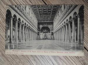 náhled knihy - 521 Roma - Basilica di S. Paolo (fuori le Mura) L'Interno Generale (XIX. Secolo)