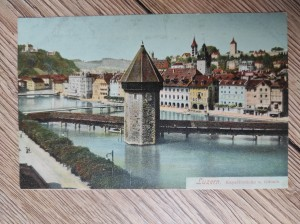 náhled knihy - Luzern. Kapellbrücke u. Gütsch.