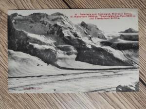 náhled knihy - 45 - Panorama vom Gornergrat, Breithorn 4171 m, Kl. MAtterhorn 3686 m, Theodulgletscher-Pass 3322 m und Theodulhorn 3472 m