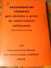náhled knihy - Bezpečnostní předpisy pro obsluhu a práci na elektrických zařízeních : poučení pro pracující