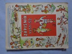 náhled knihy - Studentský zápisník na školní rok 1951-52