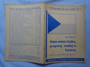 náhled knihy - Naše státní vlajka, prapory, znaky a hymna