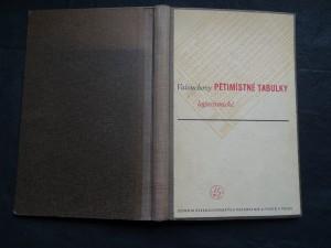 náhled knihy - Pětimístné tabulky logaritmické
