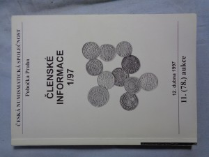 náhled knihy - Česká numismatická společnost: Členské informace 1/97 12. dubna 1997 11. (78.) aukce