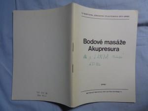 náhled knihy - Bodové masáže - akupresura: met. materiál