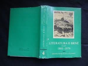 náhled knihy - Bibliografie města Brna. Svazek 4, Literatura o Brně z let 1801-1979 : soupis publikací a článků