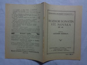 náhled knihy - Rozbor sonatin Vítězsl. Nováka: op. 45