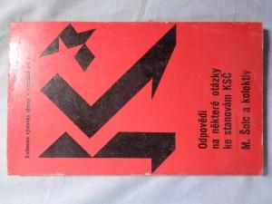náhled knihy - Odpovědi na některé otázky ke stanovám KSČ
